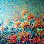 Romualda Anioł-Lubas, ,,Impresja'', akryl na płótnie, 100x120 cm