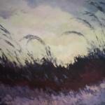 Romualda Anioł-Lubas, ,,Przed burzą'', olej na płótnie, 60x100 cm