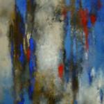 """Lidia Domagała, """"Muzyka o świcie"""", akryl, 70x50 cm"""