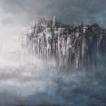 """Andrzej Fronczak, """"W mgielnym zawieszeniu"""" , akryl na płótnie, 60x90 cm"""