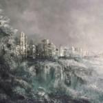 """Andrzej Fronczak, """"Mglisty poranek"""", akryl na płótnie, 60x90 cm"""