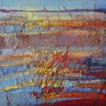 """Małgorzata Kapłan, """"Refleksy"""", akryl, olej na płótnie, 50x60 cm"""