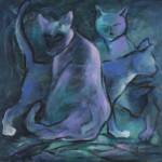 """Wiesława Kurdek, """"Tutaj"""", akryl, 60x60 cm"""
