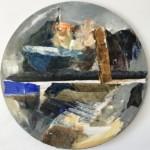 """Krzysztof Ryfa, """"Arka Noego"""", technika własna, 30 cm, 2020 r."""