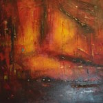 "Ludmiła Sabadini, ""Gorąco"", akryl na płótnie, 90x90 cm"
