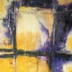 """Ludmiła Sabadini, """"Między podziałami"""", akryl na płótnie, 90x90 cm"""