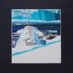 """Natalia Wegner, """"Załamanie"""", technika mieszana na papierze, 30x27,5 cm, 2020 r."""