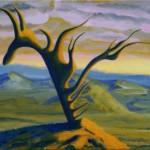 Suchobadylak wydmowy - akryl na płótnie, 40x50 cm, 2019
