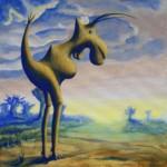 Dżinougorzak kujawski - akryl na płótnie, 40x40 cm, 2019