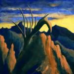 Suchobadylak wysokogórski - akryl na płótnie, 40x40 cm, 2019