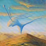 Fenochmurzak mirażowaty - akryl na płótnie, 40x40 cm, 2019