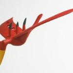 Jaskółczak alizarynowy - balsa polichromowana, 2019