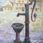 Pompa na Starym Rynku, 80x60cm, płótno, olej, 2015 r.