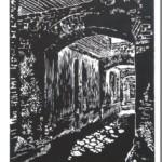 Brama na Tumskiej 3, 30x21cm, linoryt, 2015 r.
