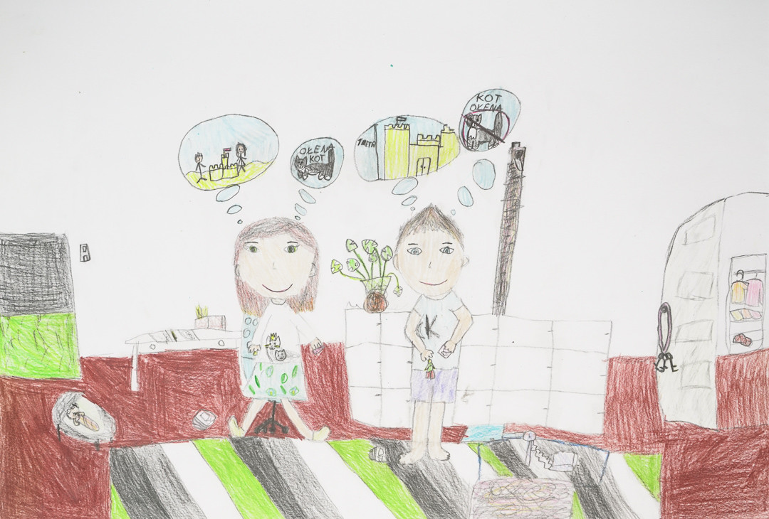 Aleksandra Mijalska (10 lat), Grafika malarstwo i rysunek