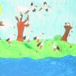 Aleksandra Rzeczkowska (11 lat), Grafika malarstwo i rysunek