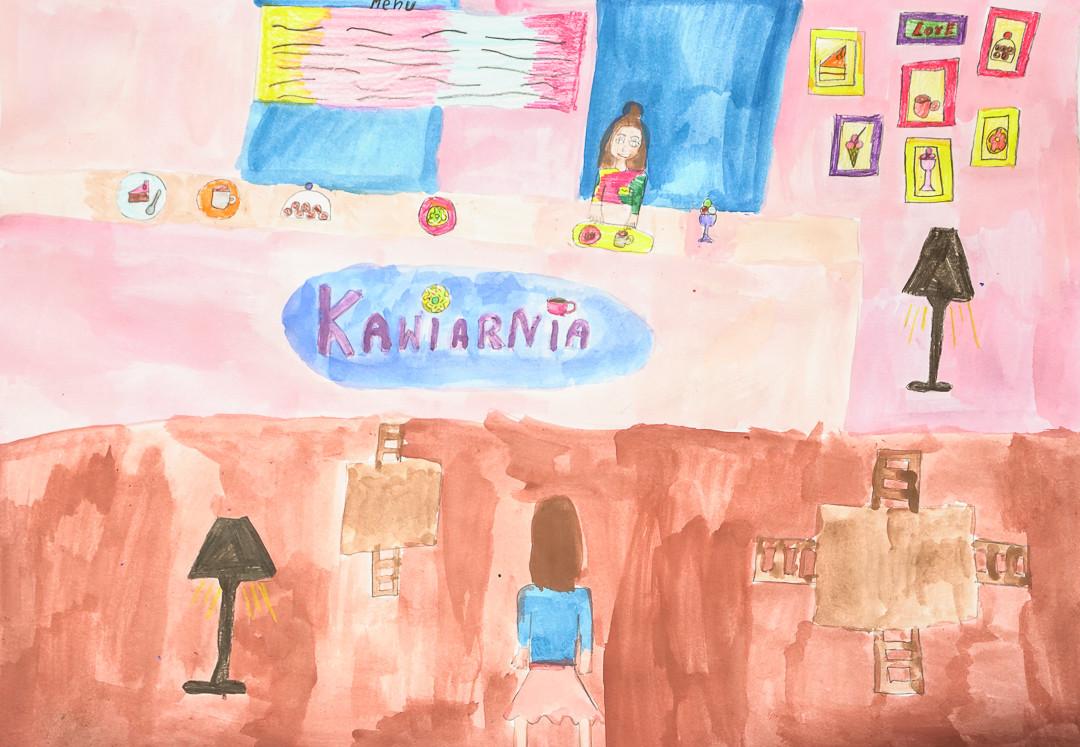 Lena Małecka  (10 lat), Grafika malarstwo i rysunek